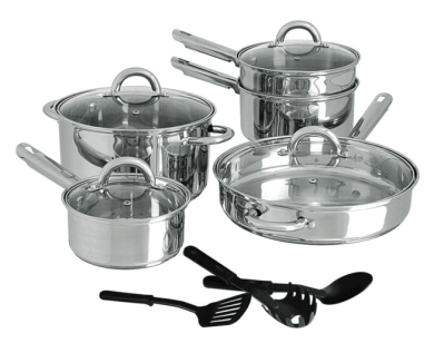 JCPenney: Stainless Steel 12-pcs Cookware Set JUST $83.99 (Reg $220) + FREE Shipping