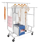 Walmart: Commercial Grade Rolling, Collapsible Garment Rack for $53.67 (Reg. Price $62.14)