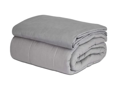 Amazon: Grey Weighted Blanket & Removable Cover for $33.61 (Reg. Price $48.61)