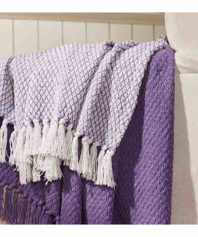 Zulily: Lilac Madison Park Cotton Fringe Throw - Set of Two Just $11.99 (Reg 54.99)