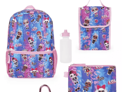 Macy's: Love 2 Design Lol Backpack 5 Piece Set for $15.99 (Reg. Price $40.00)