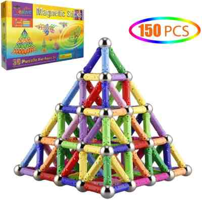 Amazon: 150 Pcs Magnetic Building Sticks Blocks For $15.29