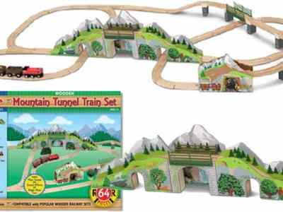 Melissa & Doug: Mountain Wooden Train Set ONLY $65 + FREE Shipping (Regularly $130)