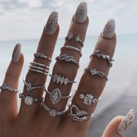 Amazon: Justew 15Pcs/Set Bohemian Style Rhinestone Rings Only $2.99 (Reg. $14.95)