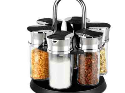 Walmart: Rotating Herb Spice Jar Rack with 6 pcs Glass Bottles ONLY $18.95