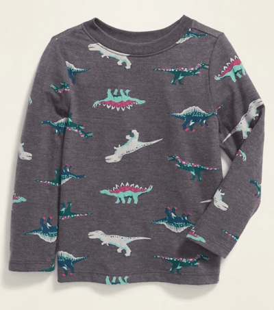 Old Navy: Printed Long-Sleeve Tee for Toddler Boys ONLY $2.77 (Reg $11)