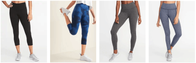 Old Navy: Women's Compression Workout Leggings For $12.00