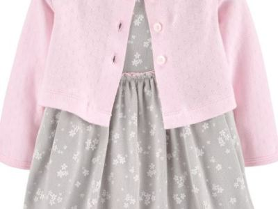 Macy's: Baby Girls 2-Pc. Cotton Cardigan & Dress Set Only $11.99 (Reg $26.00)