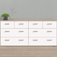 Tvilum Space 8 Drawer Double Dresser, Oak Structure/White $158.81!!