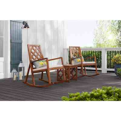 Home Depot: Rocking Chair with Teak Finish and Beige Cushion ONLY $229 (Reg $299)