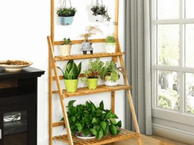 3-Tier Bamboo Hanging Plant Shelf/Bookcase $59.99(Reg. $139.99)
