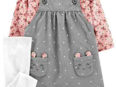 Macy's: Carter's Baby Girl 3-Piece Tee & Skirtall Set For $21.60 At (Reg. $36.00)