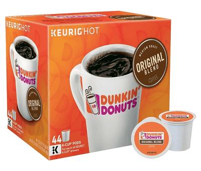 Staples: 44-Pack Dunkin Donuts Original Blend Coffee Medium Roast for $19.99 (Reg. Price $26.06)
