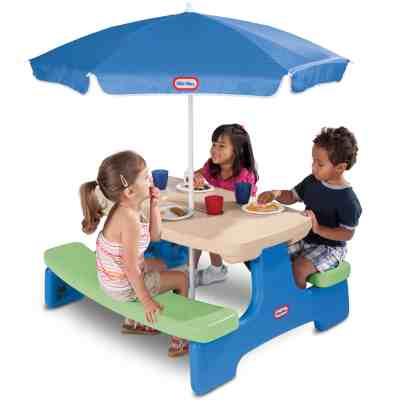 Walmart: Little Tikes Easy Store Kids Picnic Table with Umbrella for $69.99 Free Shipping! (Reg. $89.99)
