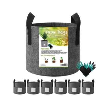 Amazon: 6-Pack 3 Gallon Plant Grow Bags + Gardening Glove & Plant Label Card for $14.49 (Reg. Price $28.99) at checkout!