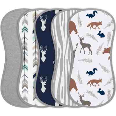 Amazon: 5 Pack Cotton Baby Burp Cloth Set for $12.99 (Reg. $16.99)
