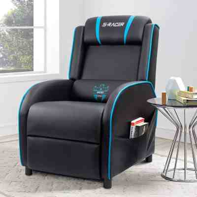 Walmart: Homall Gaming Recliner Chair with PU Leather, Black/Blue For $135.00 At(Reg.$199.00)