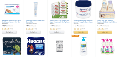 Amazon: Save $20 when you spend $100 on Baby Essentials