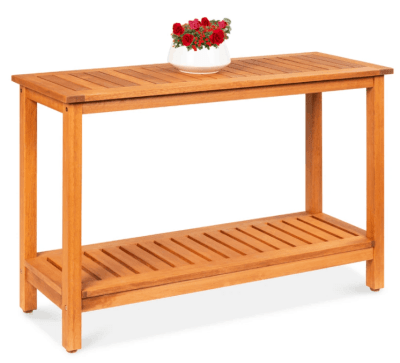 BCP: 2-Shelf Wood Console Table Storage Organizer ONLY $109.99 (Reg $230)