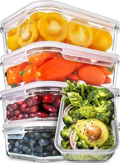 Amazon: Set of 5 Glass Meal Prep Containers by Prepworks for $20