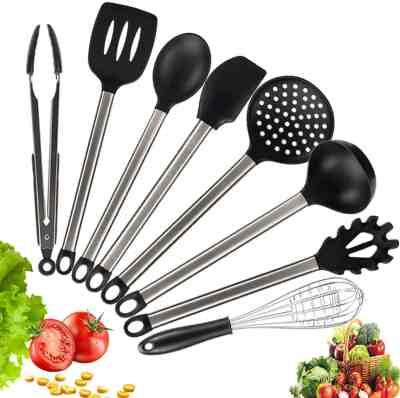 Amazon: Cooking Utensil Set, Non-stick 8pcs only $11.49