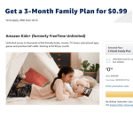 THREE months of Amazon Kids+ for $0.99
