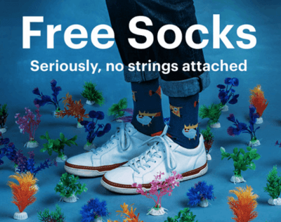 FREE Pair of Socks (Facebook)