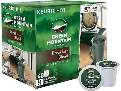 Staples: Green Mountain Breakfast Blend Coffee, Keurig® K-Cup® Pods, 48/Box $24.97