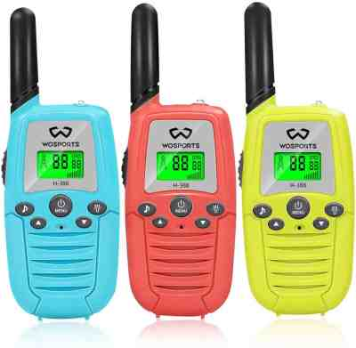 Amazon: 68% OFF on 3 Pack Kids Walkie Talkie with Belt Clip