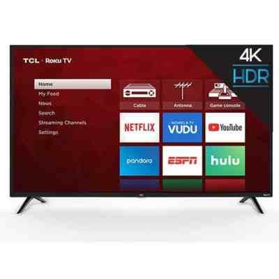 Walmart: TCL 55″ Class 4K UHD LED Roku Smart TV HDR 4 Series 55S421 For $278 (Reg. $599.99)