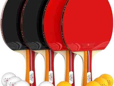 Amazon: NIBIRU SPORT Ping Pong Paddle Set (4-Player Bundle), Just $18.84 (Reg $49.99) after code!