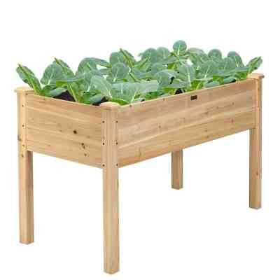 Walmart: Costway Wooden Raised Vegetable Garden Bed $99.99 (Reg $269.99)