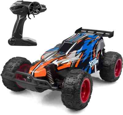 Amazon: Remote Control Car, 2.4 GHZ High Speed Racing Car with 4 Batteries, $ 15.94 (Reg $29.99) after code and coupon!