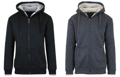 Woot: Sherpa Lined Fleece Heavy Weight Hoodies 2-Pack $23.99 (Reg $49.99)