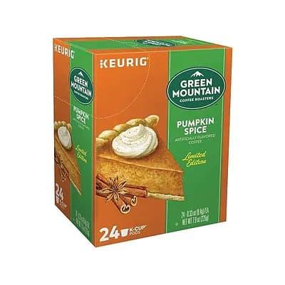 Staples: Green Mountain Pumpkin Spice Coffee, 24/Box for $11.99
