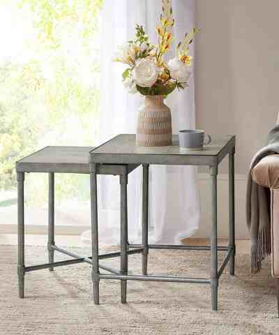 Zulily: Antique Silver Bryn Lee Nesting Table Set ONLY $329.99 (Reg $644)