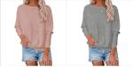 Amazon: 80% OFF on Xineppu Women's Raglan Long Sleeve Sweatshirt