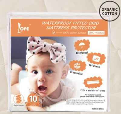 Amazon: Waterproof Fitted Crib Mattress Protector for $17.88 (Reg. Price $29.80) after code!