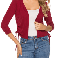 Amazon : Women's 3/4 Sleeve Trendy Bolero Shrug Just $6.39 W/Code (Reg : $15.99)