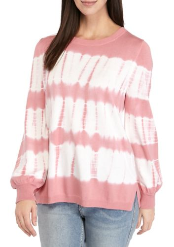 Belk: Fever Women's Tie Dye Sweater For $9 (Reg. $58) + Store Pickup.