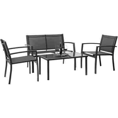 Walmart: 4Pcs Walnew Metal Patio Conversation Furniture Set w/Coffee Table for $112.99 + Free Shipping! (Reg.$169.99)