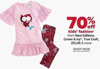 Belk: 70% Off Kids Fashion + Store Pickup.