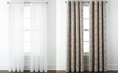 JCPenney: Home Expressions Lisette Rod-Pocket Sheer Panel ONLY $8.39 (Reg $20)