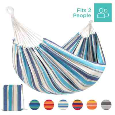 Best Choice Products: 2-Person Brazilian-Style Double Hammock w/ Portable Carrying Bag, Just $24.99 (Reg $42.99)
