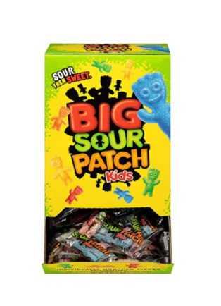 Amazon: 240 Count Sour Patch Kids Big Individually Wrapped Soft & Chewy Candy for $10.97