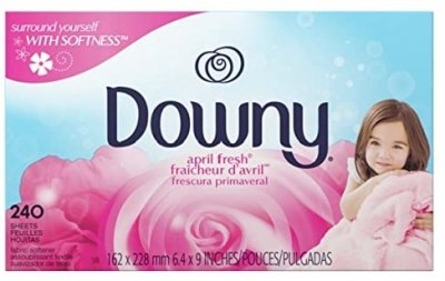 Amazon: 240 Count Downy Fabric Softener Dryer Sheets, April Fresh for $6.94 (Reg.Price $8.94)