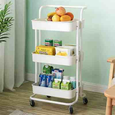 JANE: 3-Tier Kitchen Storage Utility Cart For $42.99 At Reg.$65.00 FREE SHIPPING