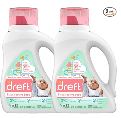 Amazon: Active Hypoallergenic Liquid Baby Laundry Detergent for Baby, Newborn, or Infant, 50 Ounces(32 Loads) for $16