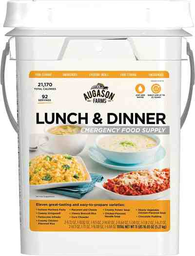 Amazon: 4-Gallon Lunch and Dinner Variety Pail Emergency Food Only $59.98 (Reg. $84.99)