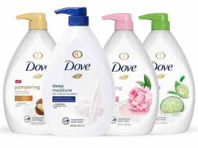 TANGA: 4-Pack Dove Shower Gel Body Wash w/ Pump 34oz/1L For $32.49 At Reg.$99.99